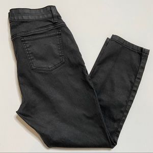 Eileen Fisher Waxed Coated Denim Petite Ankle Jean